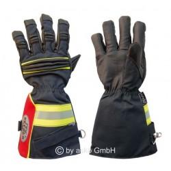 Zásahové rukavice FIRE KEEPER, dlhá manžeta čierne